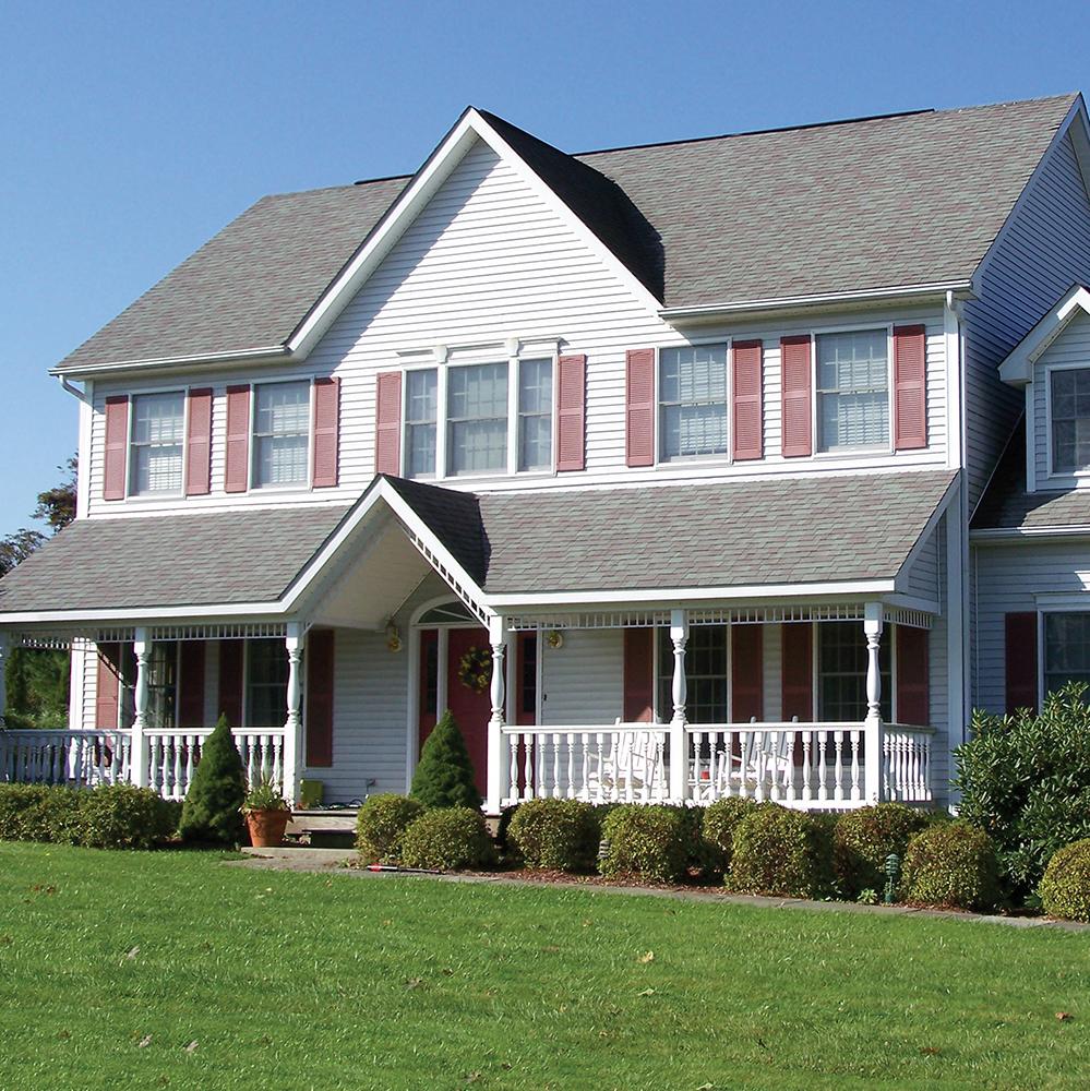 modular home with porch