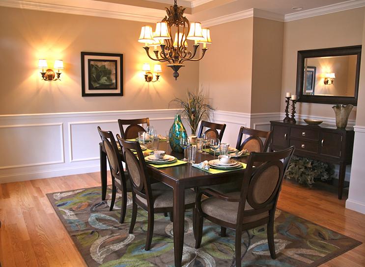 modular home dining room