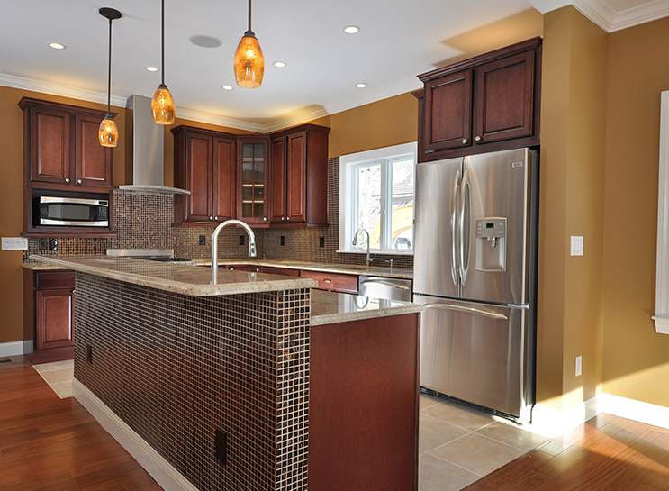 renovated kitchen in modular home